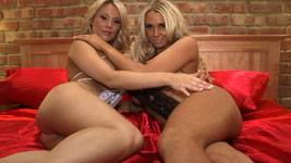 Cara Brett an Hannah P Topless and Nude Ice Video