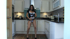 Dani Thompson Topless and Nude French Maid Hi-Def 720p Video